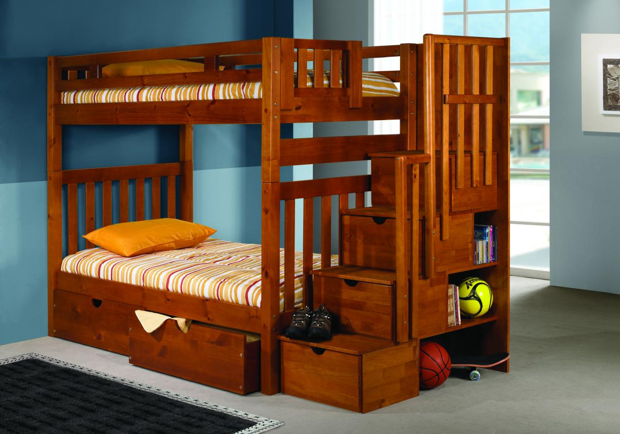 Save Big On Twin Over Twin Tall Mission Bunk Bed With