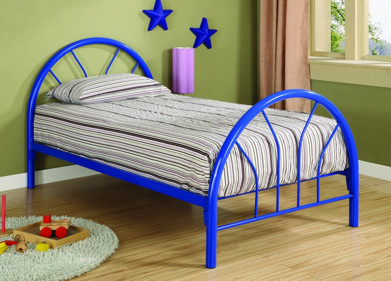 Save Big On Bearcat Twin Metal Bed Frame Blue