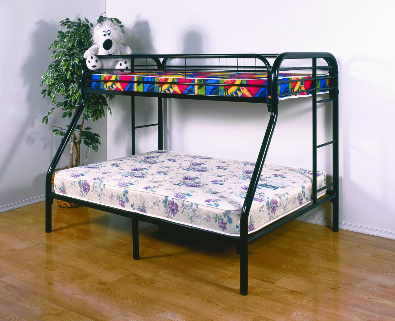 Save Big Twin Over Full Metal Bunk Bed Black