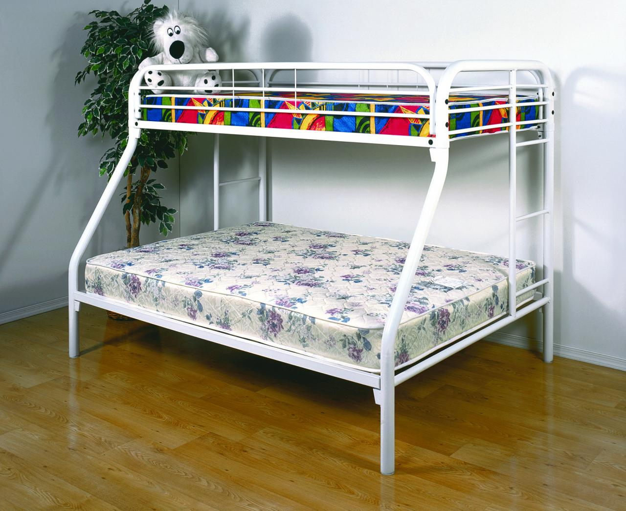 Save Big Twin Over Full Metal Bunk Bed White