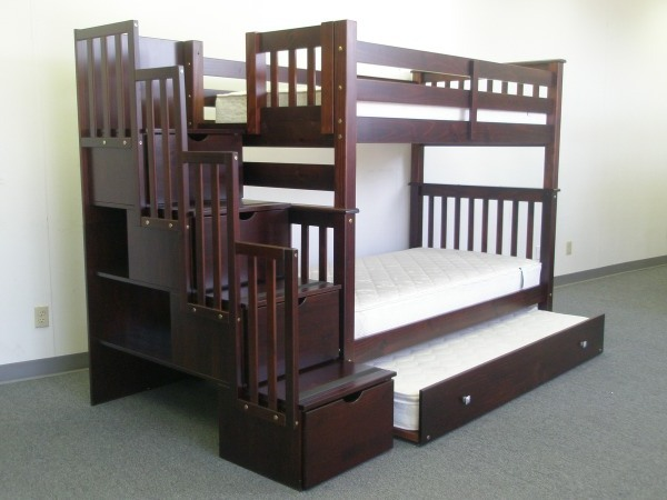 Save Big On Tall Stairway Bunk Bed Twin Over Twin With Twin Trundle