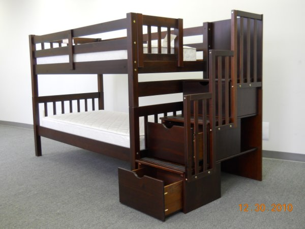 Kidkraft Twin Over Twin Bunk Bed With Stairs