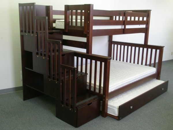 Save Big On Stairway Bunk Bed Twin Over Full With Twin Trundle