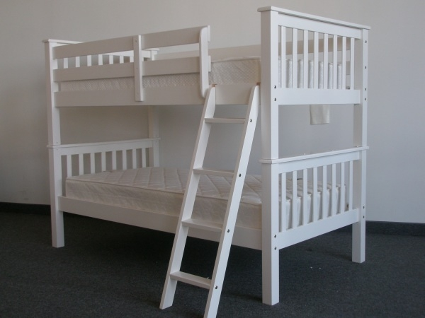 SAVE on Full over Full Bunk Bed White