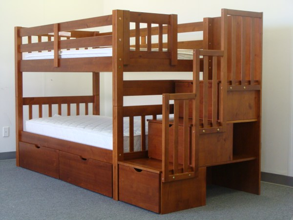 Stairway Bunk Bed with Trundle 600 x 450